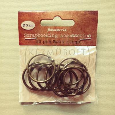 Albumgyűrű, nyitható 30mm - bronz 10db/cs