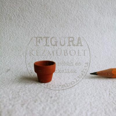 Miniatűr virágcserép, 14*15mm