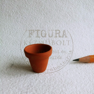 Miniatűr virágcserép, 22*24mm