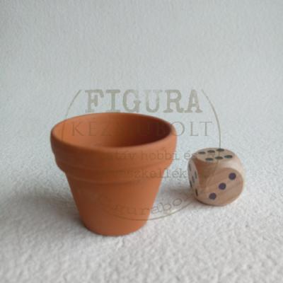 Mini virágcserép, belső nagyátmérő 30mm
