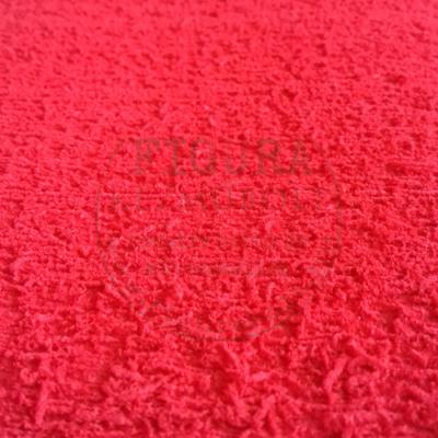 Flokkolt (frottír) dekorgumi A4 - PIROS