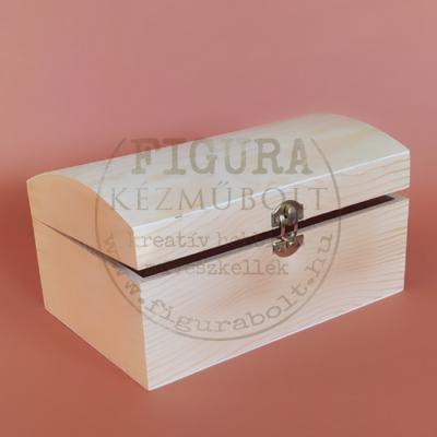 Fa doboz, láda, domború tetővel 19,5*11,5*10cm