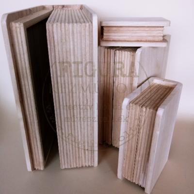 Fa doboz könyv 20*14,5*7cm KAPOCS NÉLKÜL, MÁGNESSEL