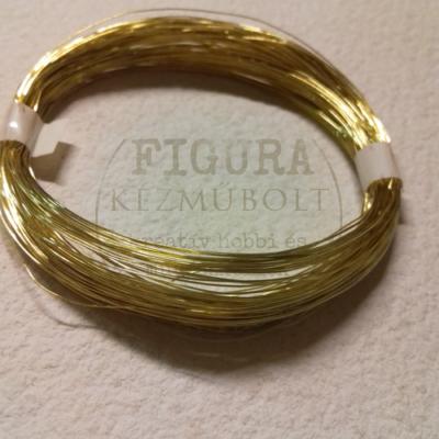 Ékszerdrót 0,6mm*10m - arany