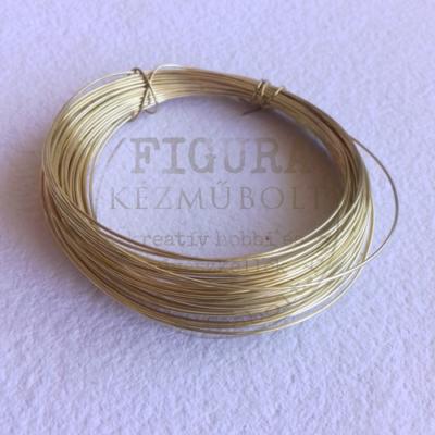 Ékszerdrót 0,8mm*6m - arany