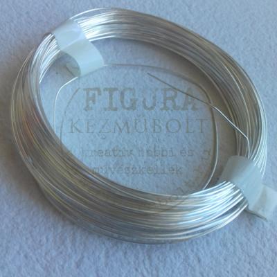 Ékszerdrót 0,8mm*6m - ezüst