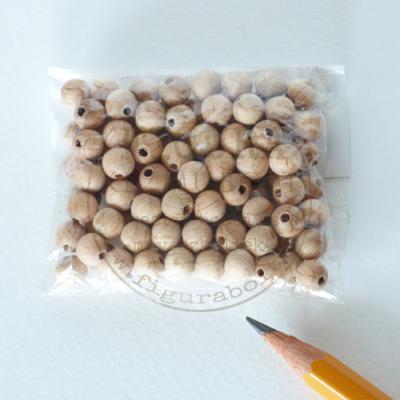 fa golyó, fa gyöngy csomag natúr 6mm 100db