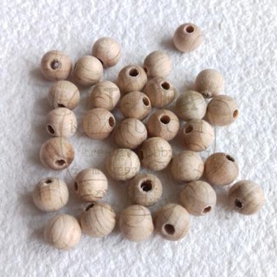 fa golyó, fa gyöngy natúr 12mm