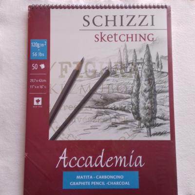 Skicc- és rajzblokk spirálos 29,7*42cm 120g/m2 50lap - Accademia