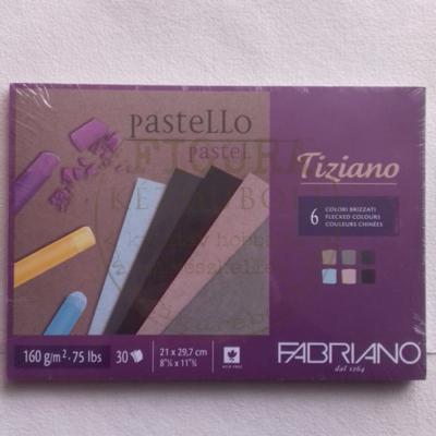 Tiziano pasztell blokk A4 160g/m2 30lap vegyes 6 szín