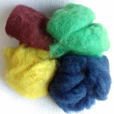 Nemezelő gyapjú 50g - VEGYES I. (zöld, sötétkék, bordó, citrom)