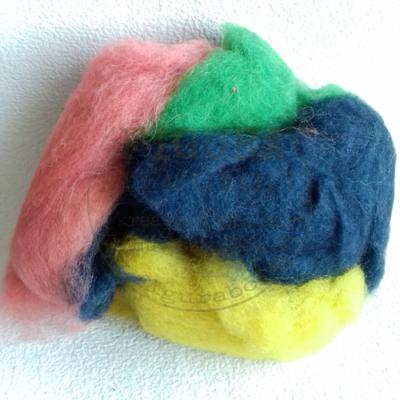 Nemezelő gyapjú 50g - VEGYES II. (rózsaszín, zöld, sötétkék, citrom)