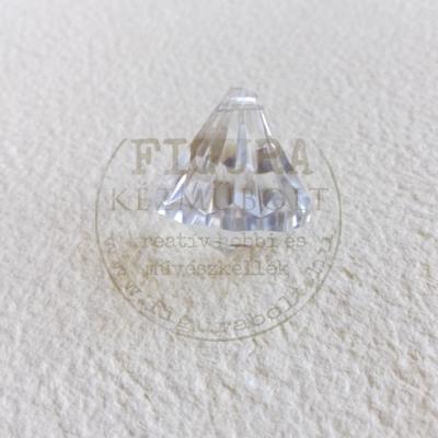 Bizsu gyöngy függő 20*20mm*6db - Áttetsző