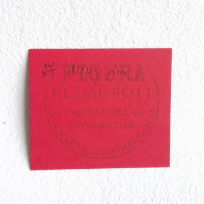 Fotókarton kétoldalas A4 300g/m2 - 27 ming-piros