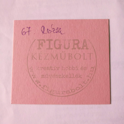 Fotókarton kétoldalas A4 300g/m2 - 67 rózsaszín