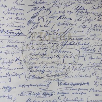 Decoupage papír (dekupázs) Tasotti 50*70cm - Kézírás - kék
