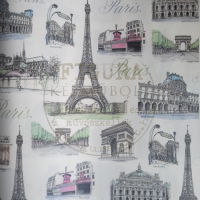 Decoupage papír (dekupázs) Tasotti 50*70cm - Párizs