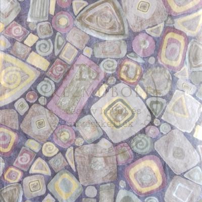 Decopatch papír (tépőpappír) 30*39cm - Zöld-barna mozaikos