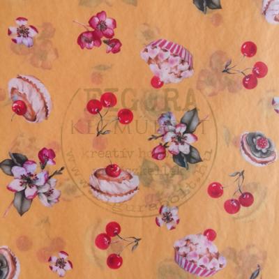 Decopatch papír (tépőpappír) 30*39cm - Cseresznyés sütemény