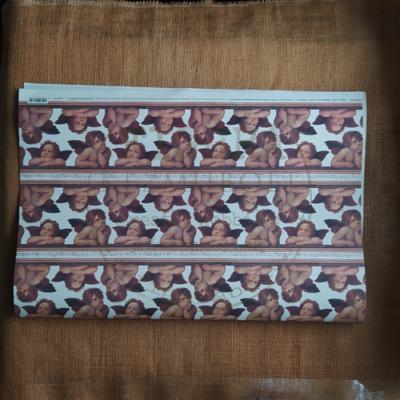 Decopatch papír (tépőpappír) 30*39cm - Türkiz-ezüst hókristály