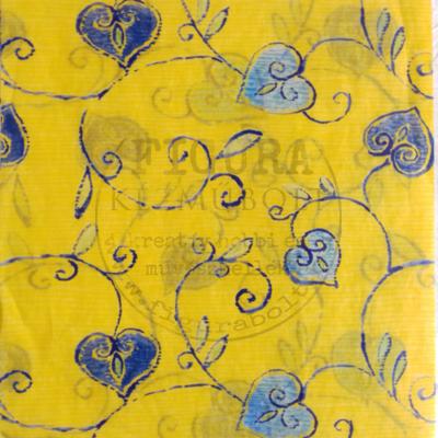 Decopatch papír (tépőpappír) 30*39cm - Sárga/Kék leveles inda