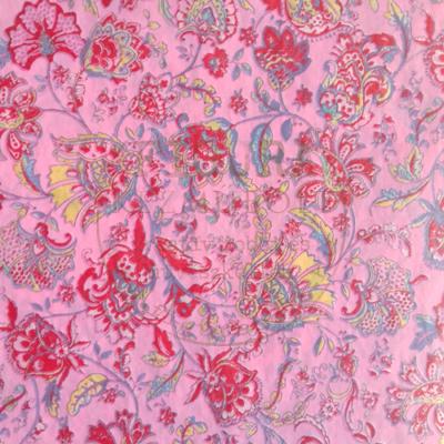 Decopatch papír (tépőpappír) 30*39cm - Rózsaszín/piros virág mintás