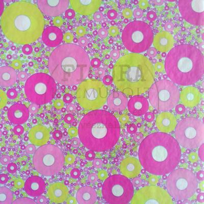 Decopatch papír (tépőpappír) 30*39cm - Zöld-Rózsaszín körök