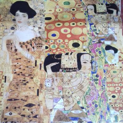 Decoupage papír (dekupázs) 50*70cm - Klimt DFG325 - SÁRGA-BARNA