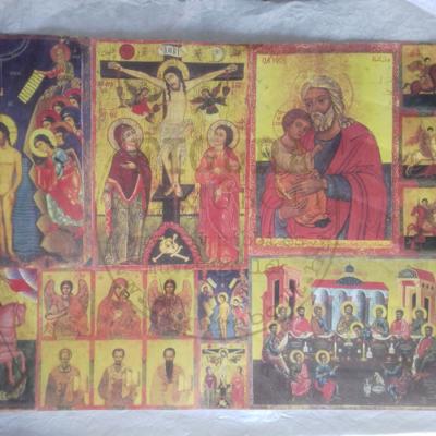 Decoupage papír (dekupázs) 33*48cm - DFGS012 Vallási jelenetek