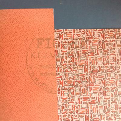 Mintás karton kétoldalas fényes 50*70cm - Bőrhatás / Betűk,számok