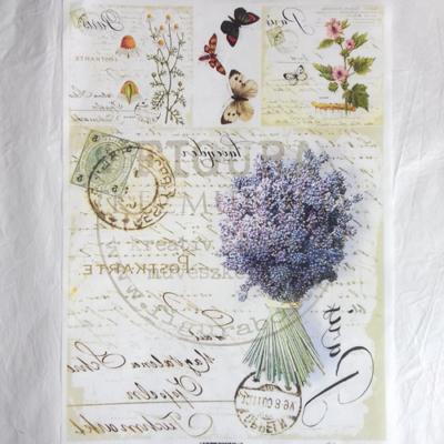 Transzfer papír színes A4 - Kézírás (levendula, gyógynövény...)