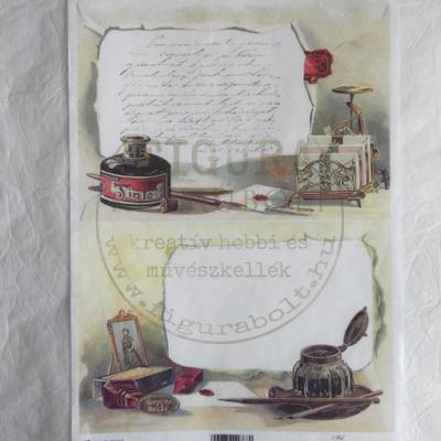 Rizspapír A4 - Toll és tinta tartó (2 kép)