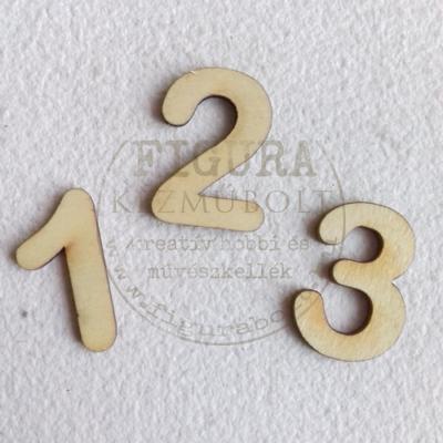 Fa szám 32mm magas 3mm vastag rétegelt lemez - 3