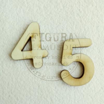 Fa szám 32mm magas 3mm vastag rétegelt lemez - 5
