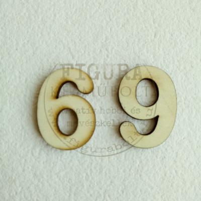 Fa szám 32mm magas 3mm vastag rétegelt lemez - 6-9