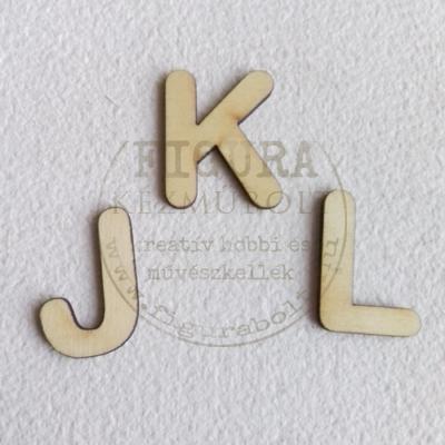 Fa betű 32mm magas 3mm vastag rétegelt lemez - J