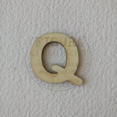 Fa betű 32mm magas 3mm vastag rétegelt lemez - Q