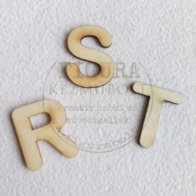Fa betű 32mm magas 3mm vastag rétegelt lemez - R