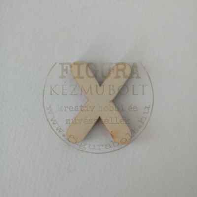 Fa betű 32mm magas 3mm vastag rétegelt lemez - X