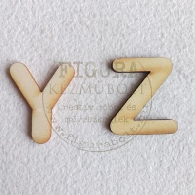 Fa betű 32mm magas 3mm vastag rétegelt lemez - Z