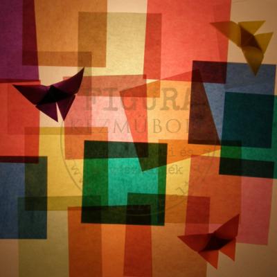 Színes origami hajtogatólap áttetsző 10*10cm 10db/csomag vegyes színek