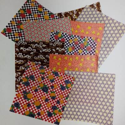 Mintás origami hajtogatós papír 15*15cm 10db vegyes