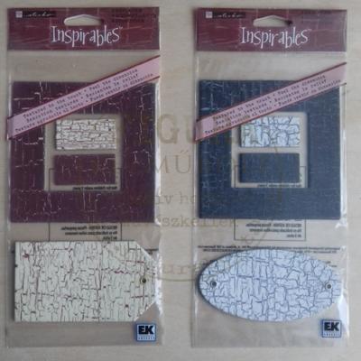 Dekor keret (9*9/5*5cm) és cimke - BARNA-KRÉM