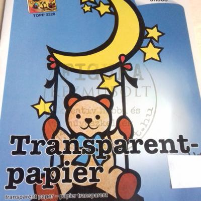 Transzparens papír 23*33 cm 2 db/csomag (lila és barna)