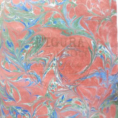 Kézi színezésű márványos papír 31*42cm (rajzpapír jellegű) I.