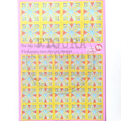 Teafilter papír A4 lapon 28db - KÉK-SÁRGA