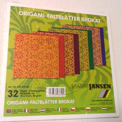 """Origami papír 15*15cm 80g/m2, 4*8db, """"kaleidoszkóp"""", hátul egyszínű"""