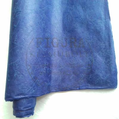 Bagmati papír 50*75cm - SÖTÉTKÉK, VIRÁGOS