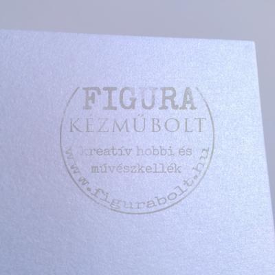 A4 karton selyemfényű fehér-ezüst