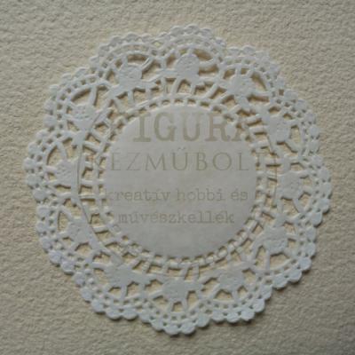 Tortacsipke 100db átmérő 10cm - fehér, rózsás